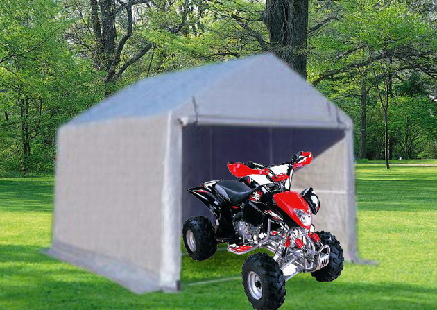 Motorcycle Carport Storage : Shelters portable garages tent sheds outdoor storage large