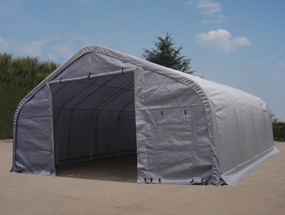 Shelters portable garages tent sheds outdoor storage large for Storage huts for garden