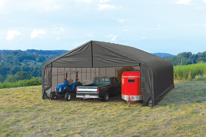 Temporary Garages For Large Trucks : Shelters portable garages tent sheds outdoor storage large